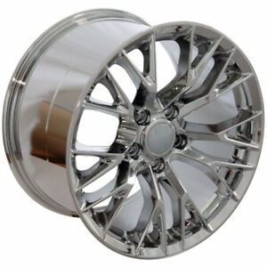 17x9 5 Wheels For Chevy Corvette Firebird Camaro 17 Inch Chrome Rims Set 4