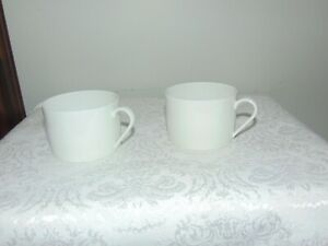Vintage Lot Of 6 Limoges France White Cups 2 1 8 Tall