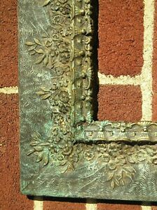 Unique Antique Victorian Ornate Fern And Flower Painted Picture Frame 16 X 20
