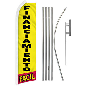 Financiamiento Facil Swooper Advertising Feather Flutter Flag Pole Kit Finance