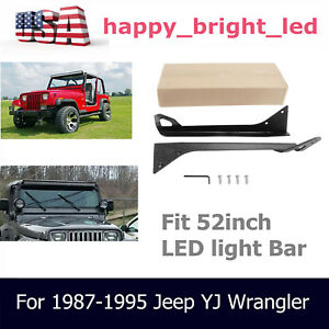 For 1987 1995 Jeep Yj Wrangler Roof Upper Mounting Bracket 50inch Led Light Bar