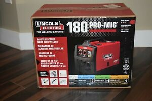 Lincoln Electric 180 Pro mig Mig flux Corded Wire Feed Welder K2481 1