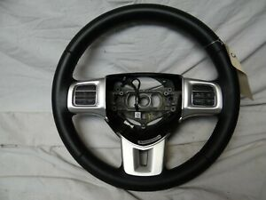 11 12 13 14 Dodge Charger Steering Wheel Cruise Control Control Silver Oem Trim