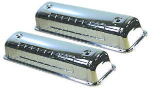 Ford 292 312 Y Block Chrome Steel Valve Covers 1954 1964 F 100 T Bird V8