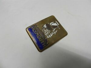 1920s 1930s Plymouth Radiator Badge Emblem Vintage Used Antique Collector Item