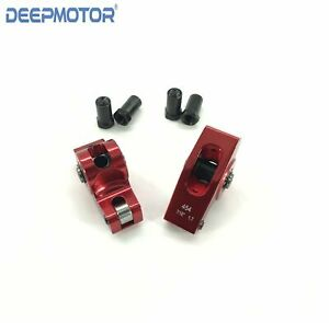 Big Block Chevy Bbc 396 454 427 1 7 Ratio 7 16 Roller Rockers Red Anodized
