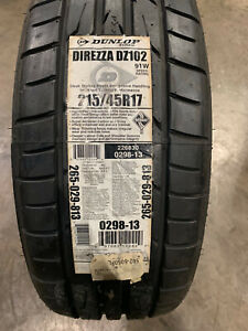 4 New 215 45 17 Dunlop Direzza Dz102 Tires