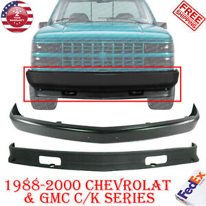 Front Bumper Primed Steel Lower Valance For 1988 2000 Chevy K1500 C1500 Gmc