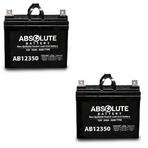 New 2 Pack Ab12350 12v 35ah Sla Battery Replaces Pride Mobility Rally Scooter