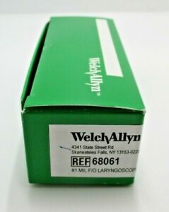 Welch Allyn 68061 1 Mil F o Laryngoscope Blade New