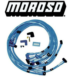 Moroso Blue Max Sbc 305 350 Spark Plug Wires 90 Degree Boots Hei Under Header
