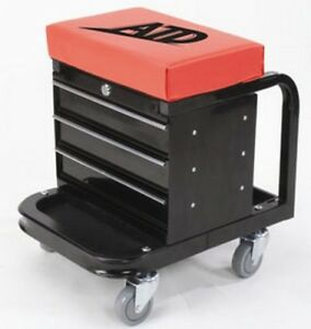 Atd Tools 81047 Heavy Duty Toolbox Creeper Seat 450lb Capacity