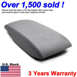 Fits 2007 2011 Toyota Camry Leather Center Console Lid Armrest Cover Skin Gray