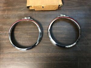 Unity 9567 Fog Driving Light Lamp Trim Rings Pair Nos 619