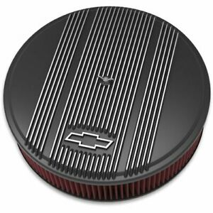 Holley 120 173 Officially Licensed Chevy Bowtie Vintage Finned Air Cleaner Assem