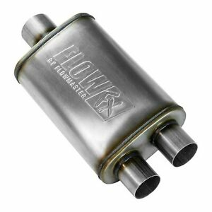 Flowmaster 72198 Flow Fx Moderate Sound Muffler With 3 Center In 2 5 Dual Out