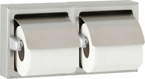 Bobrick B 699 Recessed Dual Roll Toilet Tissue Dispenser Stainless Steel