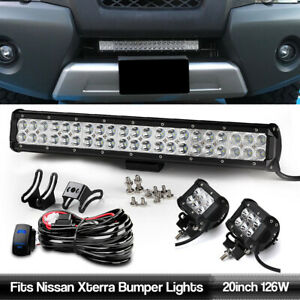 Fits Nissan Xterra 20 5 2x 4 Pods Wiring Led Light Bar Offroad Driving Lamp