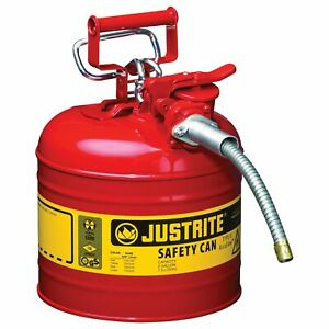 Justrite Accuflow Type Ii Safety Fuel Can 2 gal Red 7220120