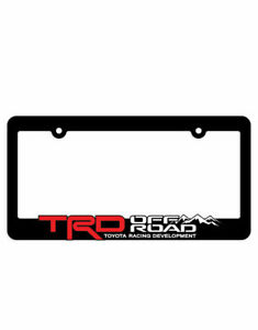 1x Trd Off Road License Plate Frame Trd Racing Development 4runner Tundra Tacoma