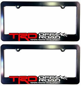 2x Trd Off Road License Plate Frame Trd Racing Development 4runner Tundra Tacoma