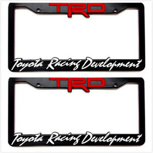 2x Trd License Plate Frame Cover Racing Development Camry 4runner Tundra Tacoma