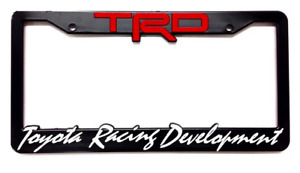 1x Trd License Plate Frame Cover Racing Development Camry 4runner Tundra Tacoma
