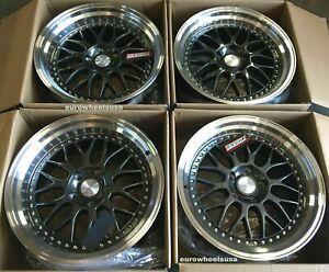 17x8 5 Esr Sr01 Gun Metal Wheels 5x114 3 30 Fit Accord Civic Rsx Tsx Rims Set 4