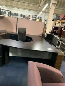 Candex Custom Corp new York Series Laminated U shaped Desk W Aluminum Grille