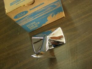 Nos Oem Ford 1971 1977 Pinto Chrome Mirror 1972 1973 1974 1975 1976 Drivers Door
