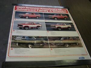 Nos Oem Ford 1980 Bronco Dealership Display Options Poster