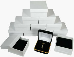 12 Piece Black Velvet Necklace Earring Jewelry Gift Box 2 5 8 X 2 5 8 X 1 3 8