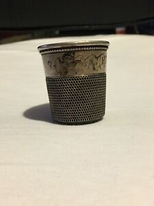 Vintage Sterling Silver Simon Bros C 1890 Jigger Shot Glass Only A Thimble Full