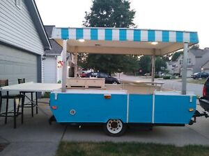 Custom Food Vending Trailer With hitch Mobile Food Truck