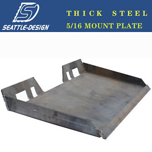 5 16 Mount Plate Quick Tach Hookup Attachment Skidsteer For Bobcat Kubota Steel