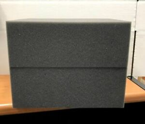 2 Firm High Density Charcoal Foam Blocks For Packing Shipping 12 X 9 5 X 4 5