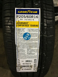 4 New 205 60 16 Goodyear Assurance Comforted Touring Tires