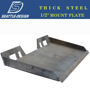 1 2 Skid Steer Mount Plate Quick Attachment For Bobcat Kubota Thicken Steel