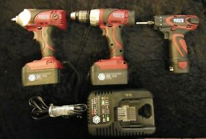Matco 3 Piece Infinium Tool Set 3 8 Impact Wrench 1 2 Drill 1 4 Screw Gun