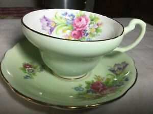 Eb Foley Bone China Cup And Saucer England Foley Tulip Pattern