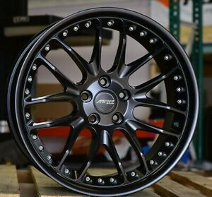 20 Mrr Gt7 Staggered Black Wheels 5x120 Rims Fits Bmw 550 535 528 645 650 750