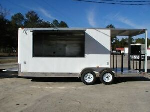 New 7x20 7 X 20 Enclosed Concession Food Bbq Trailer