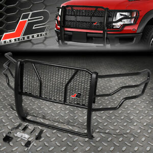 J2 For 09 14 Ford F150 Front Bumper Headlight Grille Honeycomb Mesh Brush Guard