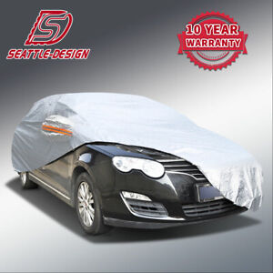 Universal Fit Full Car Cover Outdoor Waterproof Breathable Rain Dust Resistant