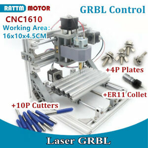 Cnc 1610 Usb Laser Pcb Milling Machine Diy Wood Router Grbl Control er11 Collet