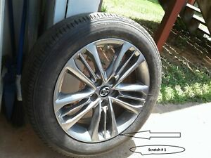 17x7 Factory Wheel titanium Gray With Tires 2015 2017 Toyota Camry
