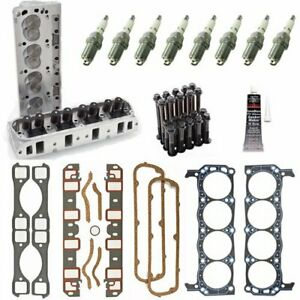 Edelbrock 5023k E Street Cylinder Head Kit Small Block Ford 1 90 Valve Includes