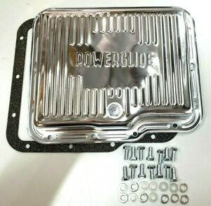 Gm Chevy Powerglide Chrome Steel Transmission Pan Kit W Bolts And Gasket
