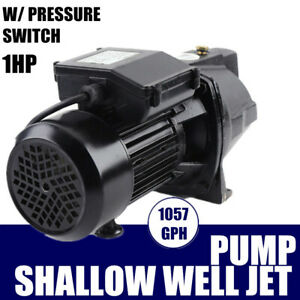 Commercial 1 Hp Shallow Well Jet Pump W Pressure Switch Water Pump 3420 Rpm