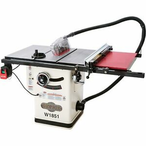 Shop Fox Hybrid Cabinet Table Saw 2 Hp 230 Volts 16 Amps 1 phase Model W1851